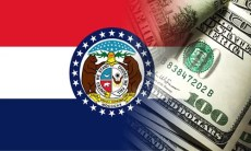Missouri flag with money