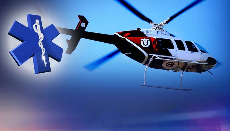 Elderly woman life-flighted after falling from moving UTV