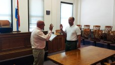 Jose Lopez Swearing in at Mercer County