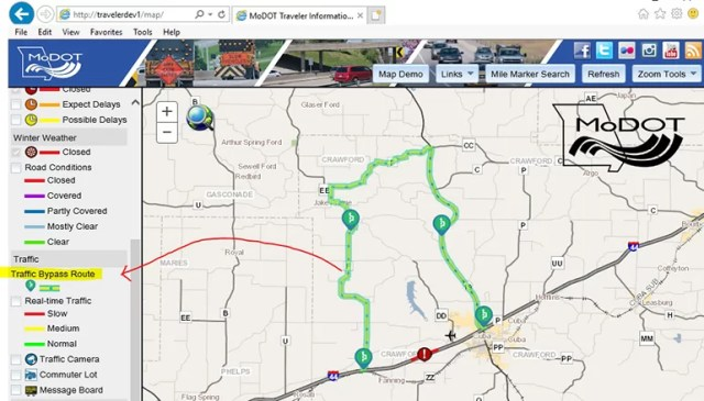 Modot Traffic Map MoDOT's online Traveler Information Map to offer new feature