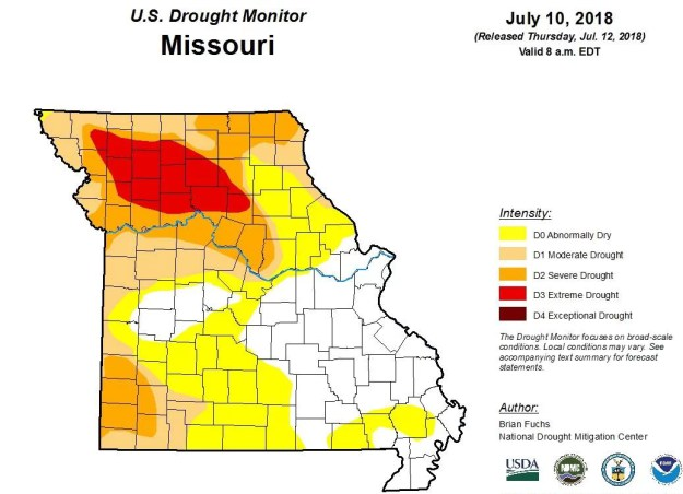 Drought Condition Map July 12, 2018