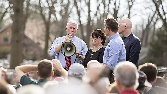 Protestors Turning Out For Mike Pence Missouri Visit