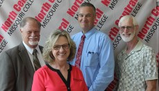 Pictured are, from left, front, Cathy McKay; back row NCMC Foundation Board President, Allan Seidel, Chad Boyd, and Eric Hauck.