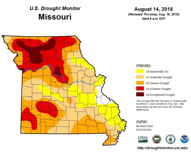 Drought Map August 16, 2018