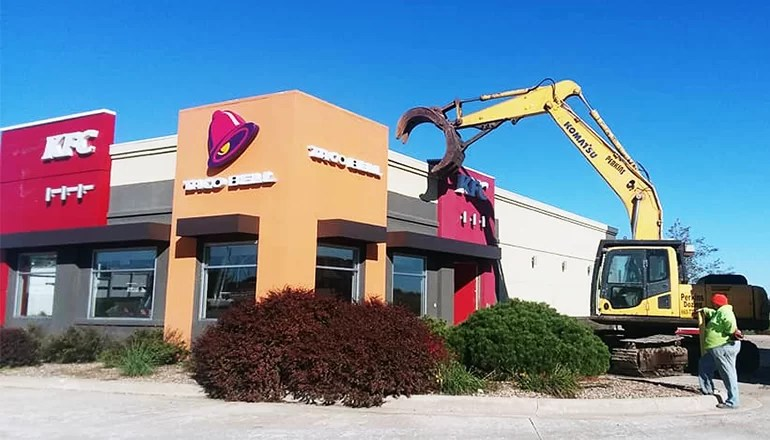 KFC-Taco Bell building in Trenton demolished to make way for new BTC Bank location