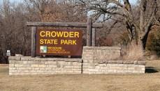 Crowder State Park Sign