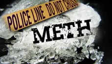 Meth with police banner