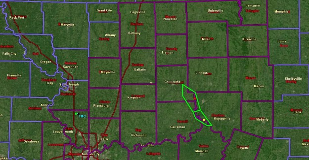 Ice Storm Warning 2-6-2019 county map