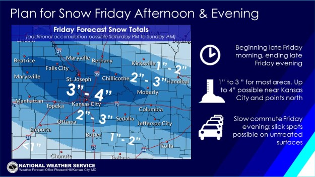 National Weather Service Friday, February 15, 2019 snow totals