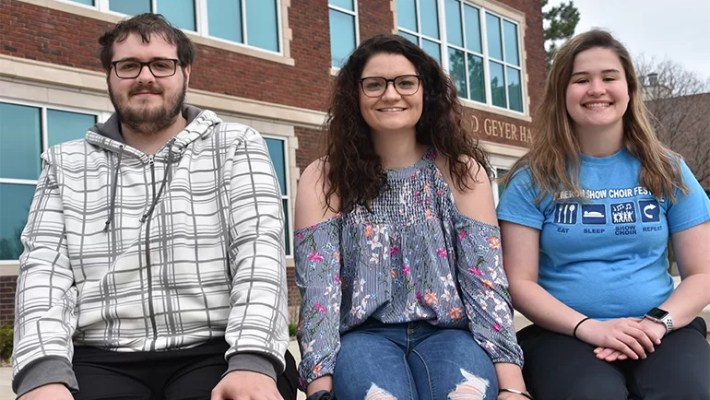 (L-R): Jacob VanVickle, Zoe Littleton and Maggie Farrell. Not pictured Russell Neeley and Brandy Wilson.