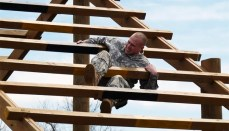 Pfc. Stoney Tyler, of Rolla, who serves with 335th Engineer Platoon (Area Clearance), competes for the 35th Engineer Brigade at the Missouri National Guard's Best Warrior contest at Camp Crowder in Neosho, Missouri, the first week of April 2013. The training and competition determines the state Guard's soldier and noncommissioned officer of the year.