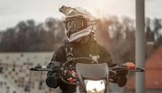 Motorcycle Rider With Helmet