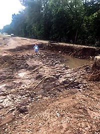 Swan Lake Washed Out Road