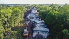Train Derails South of Mercer