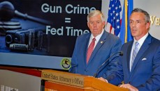 U.S. Attorney Tim Garrison and Missouri Governor Mike Parson