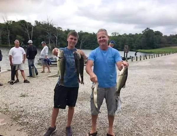Third Place Bass- Kevin McCollough and Kamren McCullough- 10.68 lbs