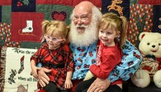 Santa at Grundy County Museum