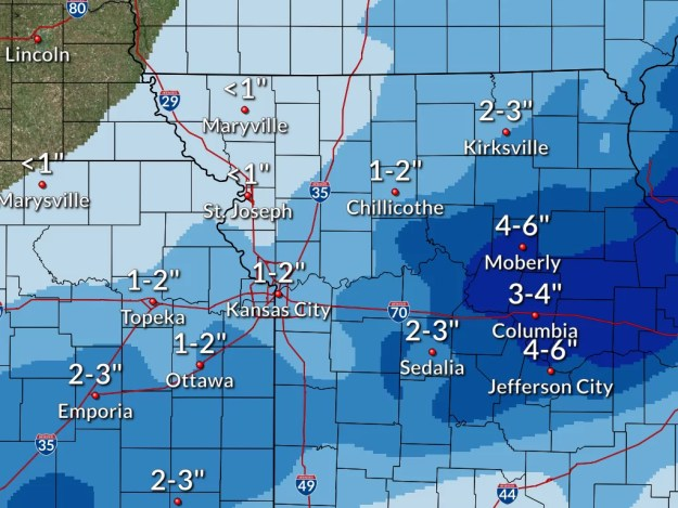 Snow Total Graphic