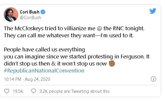 Cori Bush on Twitter