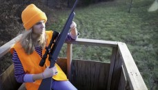 Female Hunter in Orange