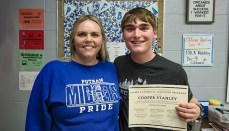 Cooper Stanley Putnam County High School senior as the Career and Technical Education Student of the Month
