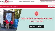Westlake Hardware Salvation Army section of website