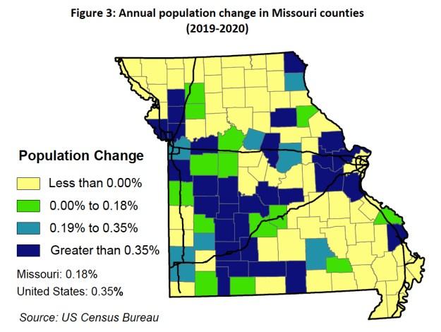 Missouri Growth Rates 2019 - 2020