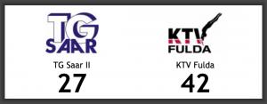 TG Saar II verliert gegen KTV Fulda
