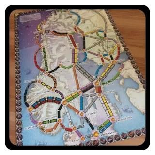 Wsiąść do pociągu Kraje Nordyckie mapa