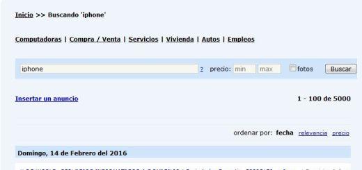 Screenshot: Revolico - Kleinanzeigen für Kuba