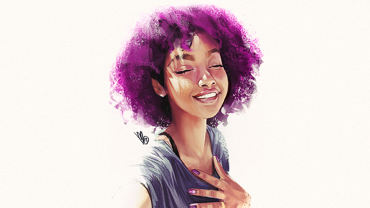 Mel Minton Natural Afro Woman