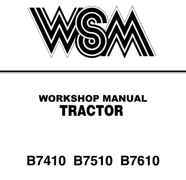 Kubota B7410 B7510 B7610 Service Manual WSM Download