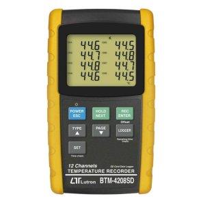 Lutron BTM-4208SD 12 channels Temperature Recorder