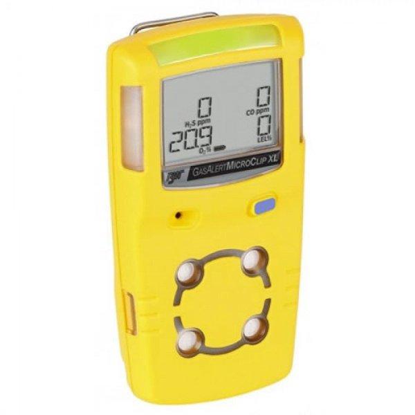 BW Technologies GasAlert MicroClip XL [MCXL-00H0-Y-NA] Multi-Gas Detector Single Gas Detector, Hydrogen Sulfide (H2S)