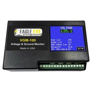 Eagle Eye VGM-100-24V Battery Ground Fault & Voltage Dual Monitor For 24V DC Applications