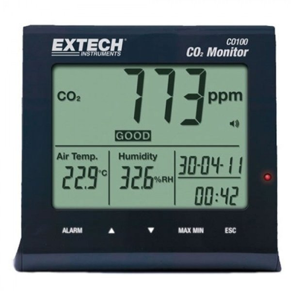 Extech CO100 Carbon Dioxide (CO2] Monitor