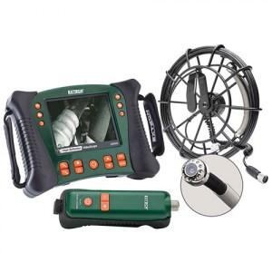 Extech HDV650W-30G Wireless Plumbing VideoScope Kit (25mm Camera Head W/ 30m Fiberglass Cable)