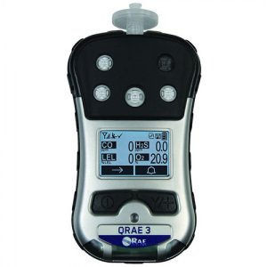 RAE Systems QRAE 3 PGM-2500 [M020-11111-111] Gas Detector, Pumped, LEL, O2, CO, H2S, Non-Wireless