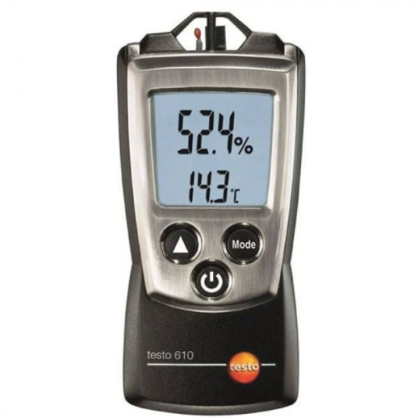 Testo 610 [0560 0610] Pocket-Sized Thermo-Hygrometer With Dewpoint And Wet Bulb Calculation
