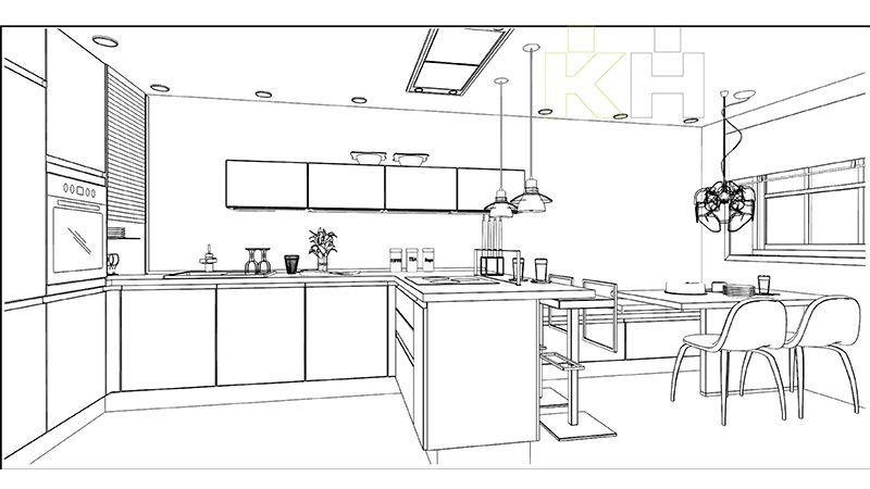 De una idea a una Moderna Cocina KchenHouse  Cocinas