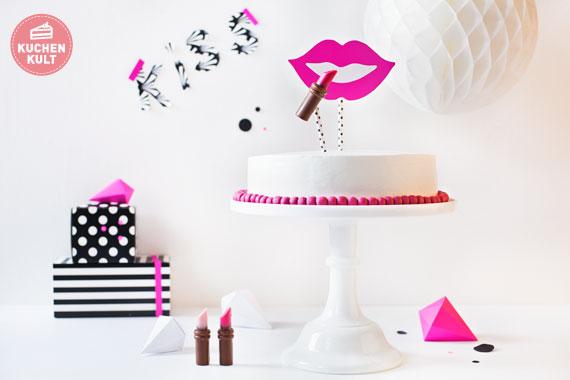 MakeUp Torte Lippenstift Torte fr Tussis selber machen