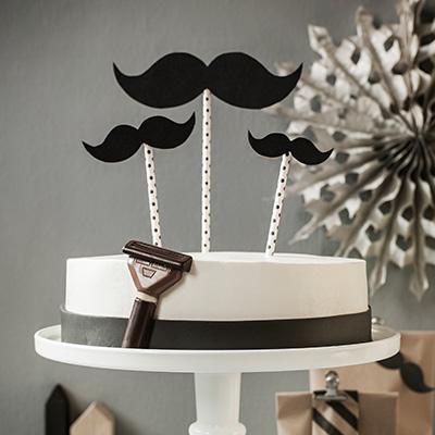 Black and White Cake oder Torte fr Mnner  Bart Kuchen
