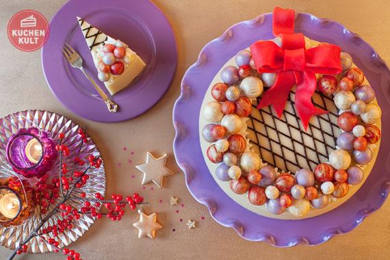 Schnelle Marzipantorte  einfache Weihnachtsdeko Dekoideen