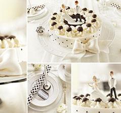 Hochzeitstorte SchwarzWei Black and White Torte zur Hochzeit