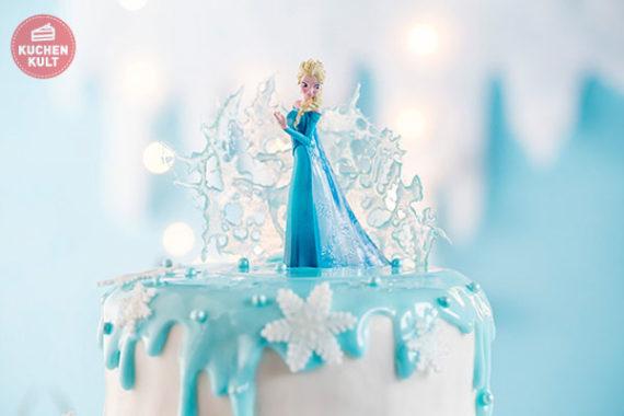 Eisknigin Elsa Torte Frozen Torte einfach selber machen