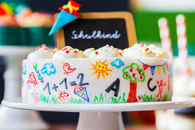 Einschulungstorte Torte  Tischdeko zur Einschulung