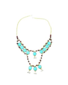 Turquoise Necklace With Bells
