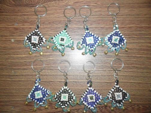 Beautiful Key-chain of Kuchi Style with pearls & bells