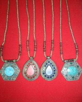 Afghani Necklaces with gemstones
