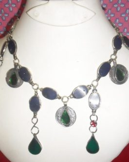 Coins and gemstone necklace